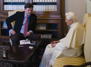Author Peter Seewald interviews Pope Benedict at the summer residence