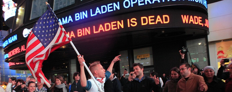 A New York City celebration at the news of the death of Osama bin Laden