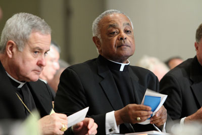 Archbishop Robert J. Carlson of St. Louis and Archbishop Wilton D. Gregory of Atlanta